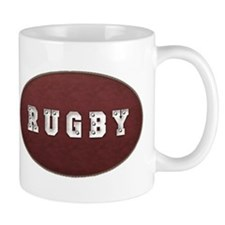 Rugby Leather Look Mug