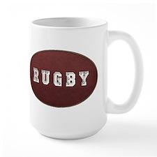 Rugby Leather Look Mug