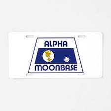 Moonbase Alpha Aluminum License Plate