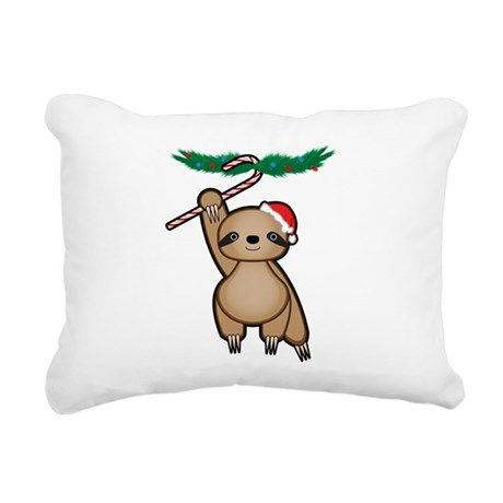 Holiday Sloth Rectangular Canvas Pillow