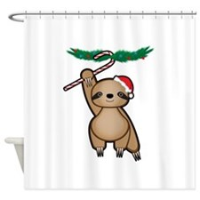 Holiday Sloth Shower Curtain