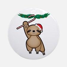Holiday Sloth Ornament (Round)