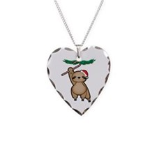 Holiday Sloth Necklace