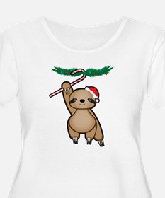 Holiday Sloth Plus Size T-Shirt