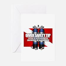Diver Safety Tip Greeting Cards