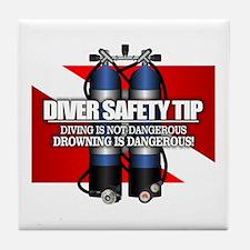 Diver Safety Tip Tile Coaster