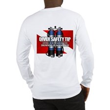 Diver Safety Tip Long Sleeve T-Shirt