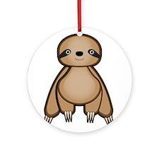 Sloth Ornament (Round)