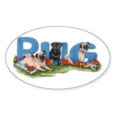 Pug Party Decal