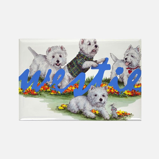 Westies Rectangle Magnet