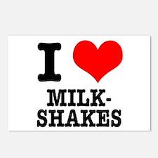 I Heart (Love) Milkshakes Postcards (Package of 8)