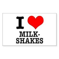 I Heart (Love) Milkshakes Rectangle Decal