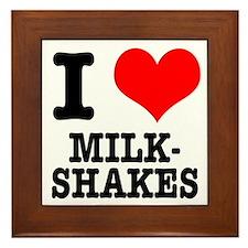 I Heart (Love) Milkshakes Framed Tile