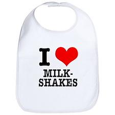I Heart (Love) Milkshakes Bib