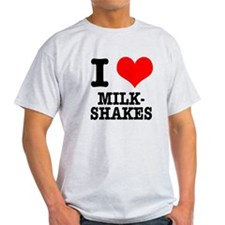 I Heart (Love) Milkshakes T-Shirt
