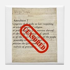 Constitution CENSORED Tile Coaster