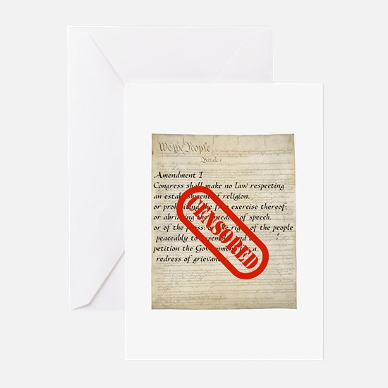 Constitution CENSORED Greeting Cards (Pk of 10