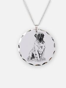Mastiff Sitting Necklace