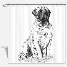 Mastiff Sitting Shower Curtain