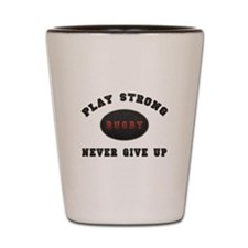 Rugby Play Strong Shot Glass