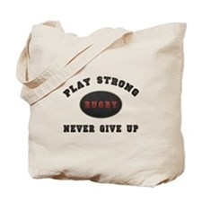 Rugby Play Strong Tote Bag