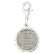 A Miners Wife Silver Round Charm