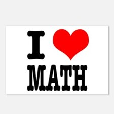 I Heart (Love) Math Postcards (Package of 8)