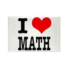 I Heart (Love) Math Rectangle Magnet (100 pack)