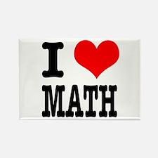 I Heart (Love) Math Rectangle Magnet