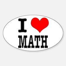 I Heart (Love) Math Oval Decal