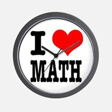 I Heart (Love) Math Wall Clock