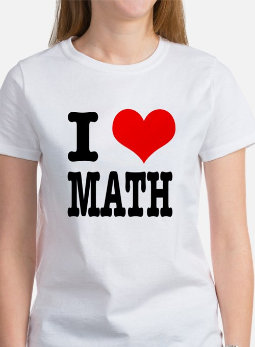 I Heart (Love) Math Women's T-Shirt