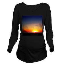 Lavallette Sunset Long Sleeve Maternity T-Shirt
