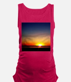 Lavallette Sunset Maternity Tank Top