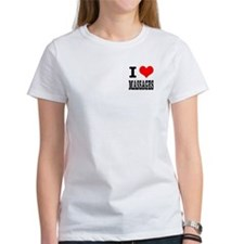 I Heart (Love) Massages Tee