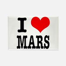 I Heart (Love) Mars Rectangle Magnet