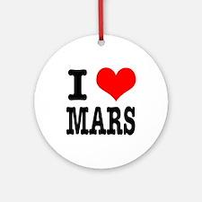 I Heart (Love) Mars Ornament (Round)