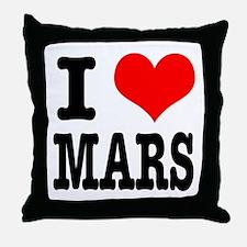 I Heart (Love) Mars Throw Pillow