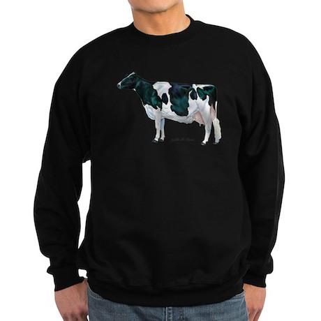 Holstein Cow Sweatshirt (dark)