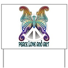 Peace Butterfly Yard Sign