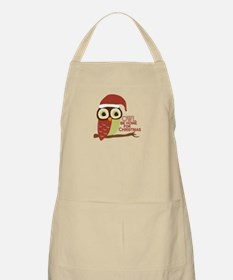 Owl Be Home For Christmas Apron
