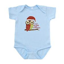 Owl Be Home For Christmas Infant Bodysuit