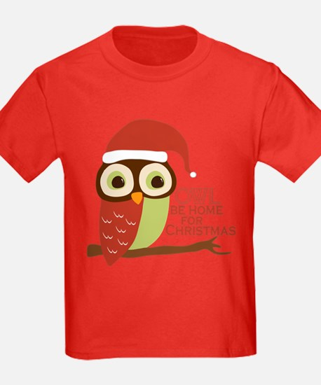 Owl Be Home For Christmas T