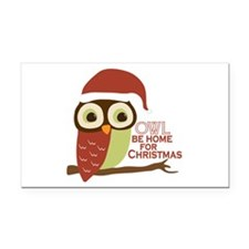 Owl Be Home For Christmas Rectangle Car Magnet