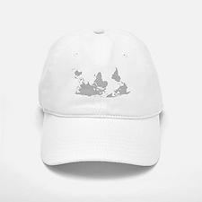 Blank-map-world-south-up.png Baseball Baseball Cap