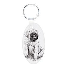 Mastiff Puppy Sitting Keychains