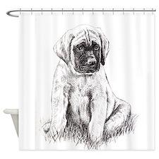 Mastiff Puppy Sitting Shower Curtain