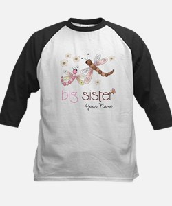 Big Sister Dragonfly Personalized Baseball Jersey