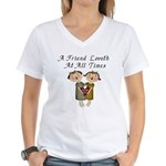 Probverbs 17:17 Women's V-Neck T-Shirt