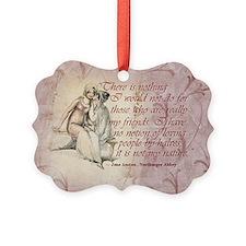 Jane Auten Quote Ornament